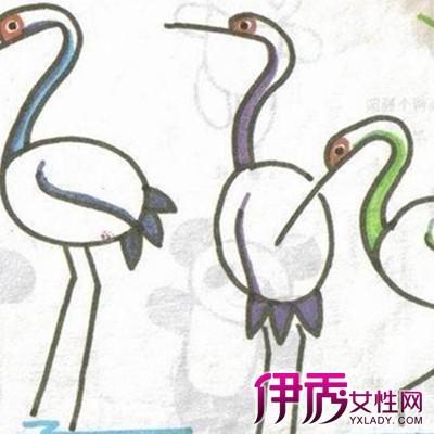 【图】丹顶鹤图片儿童画萌萌哒 激发孩子早期智力