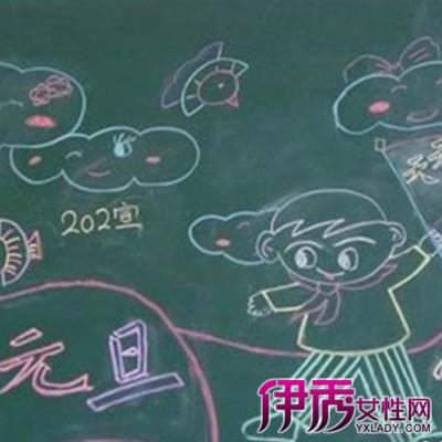 【图】展示幼儿园新年板报的图片