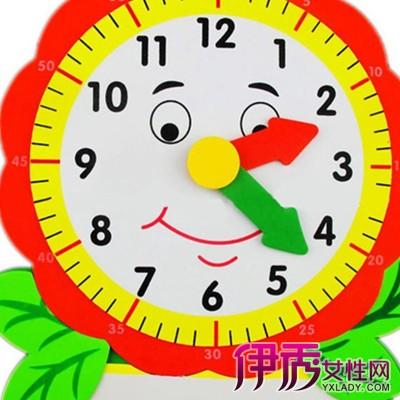 儿童手工制作钟表图片