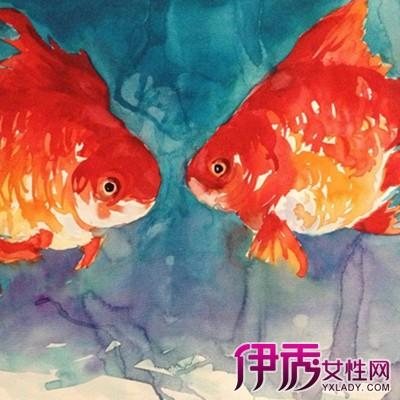 【图】好看的金鱼儿童画