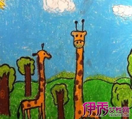 动物水粉画儿童画