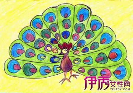 画对儿童的发展好处-儿童画孔雀图片