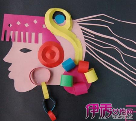 【图】小学生创意手工作品欣赏 教你手工制作扣子画