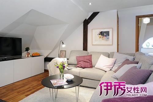 65平斜复式公寓的舒适布局图片