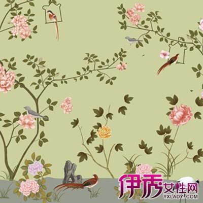 花鸟中式墙纸贴图