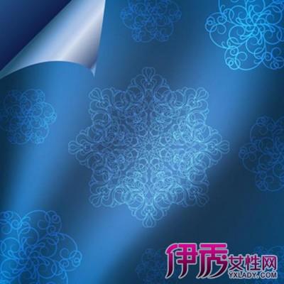 【图】欧式蓝色大花纹墙纸图片鉴赏