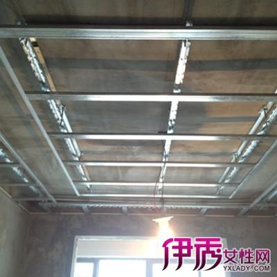 夹板吊顶,异形长条铝扣板吊顶,方形镀漆铝扣板吊顶,彩绘玻璃吊顶,铝