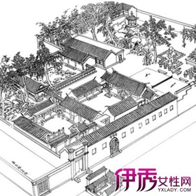 【图】新中式四合院平面图大全 揭秘四合院的总体格局图片
