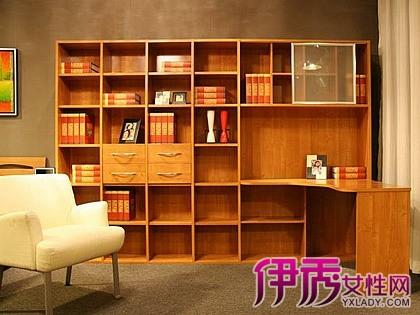 【图】电脑桌书架一体巧妙设计 五款实木书柜效果图分析助你选择-电