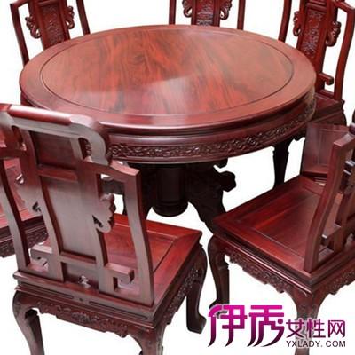 【图】好看的红木圆餐桌 餐桌如何摆放?