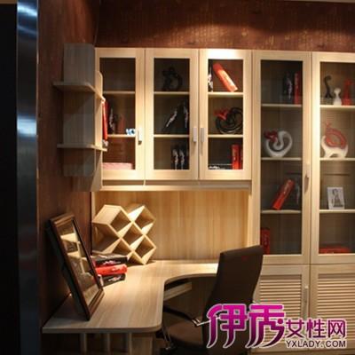 【图】卧室转角书柜电脑桌摆放效果图展示 如何巧妙设计卧室书柜