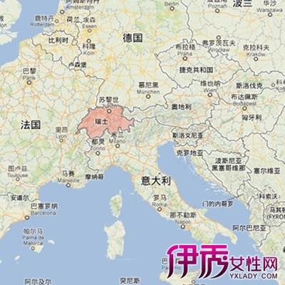 瑞士旅游著名景点地图展示