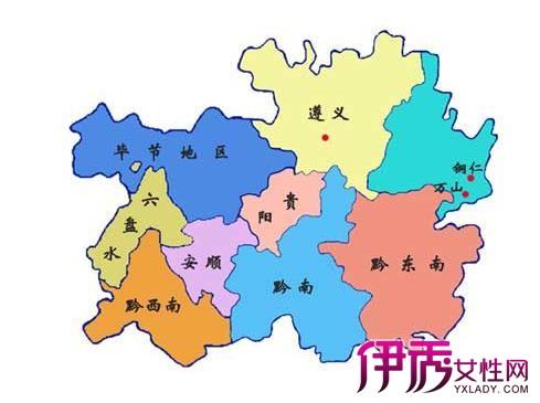 贵州省地图全图 文化和人口大省的魅力