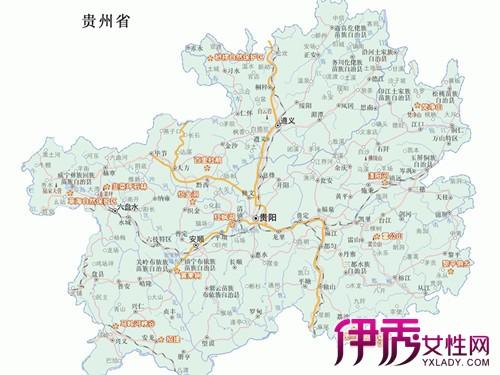 【贵州旅游景点地图】【图】贵州旅游景点地图