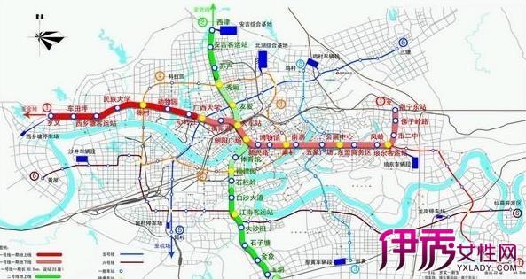 【图】南宁地铁线路图 交通发达路路通