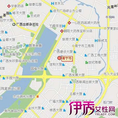 【图】观察南宁市城区地图 与你就介绍4大旅游景点
