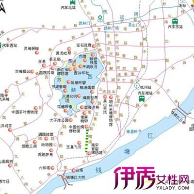 【图】杭州旅游地图图片展示 十大经典西湖景点介绍