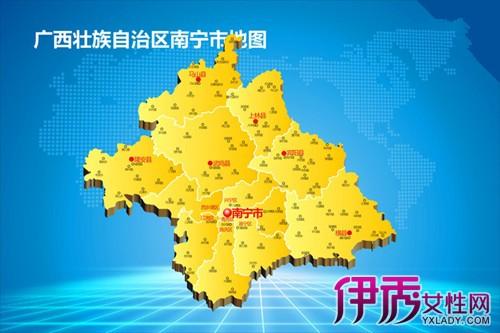 【图】广西南宁地图图片 北部湾经济区核心城市