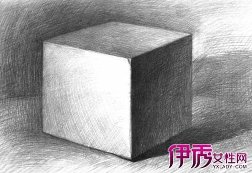 【图】正方体球体素描图欣赏 学习几何体的结
