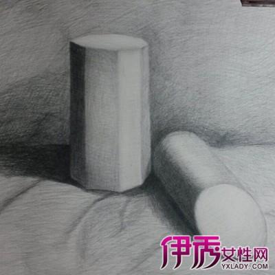 圆柱体素描的图片展示 揭示素描的技法6种类图片