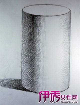 想知道素描圆柱体的画法 3个步骤教你轻松画出来图片