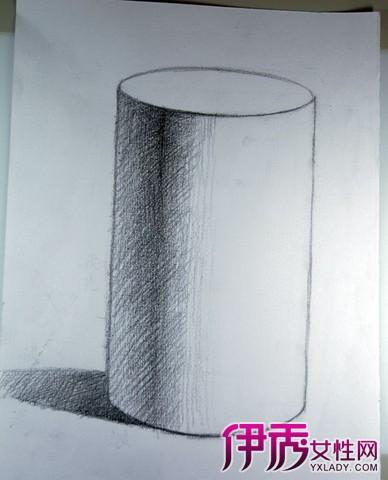 素描圆柱体画法步骤图片 6大步骤手把手教学图片
