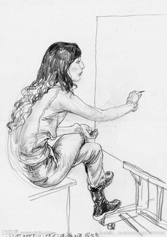 人物素描教程步骤图解欣赏 教你如何画出素描图片
