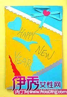 附一款立体贺卡的制作方法-几个手工制作新年贺卡作品欣赏