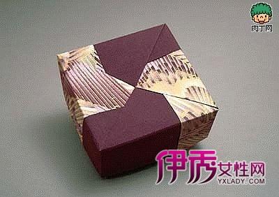 精致的日本手工折纸盒折法1图解:-几款漂亮精致的日本手工折纸盒折
