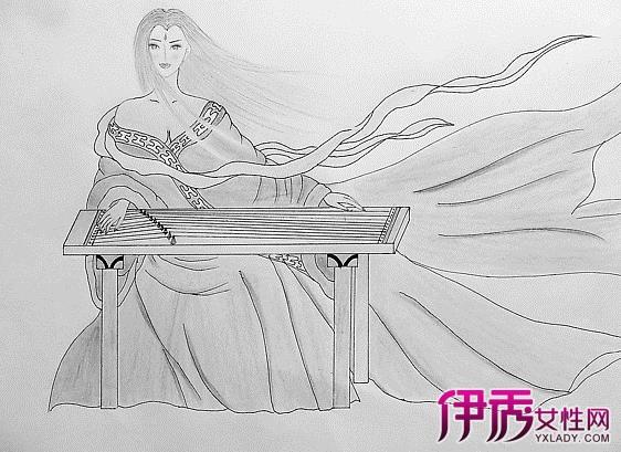 手绘古装铅笔画作品汇总 各个朝代古装特点介绍
