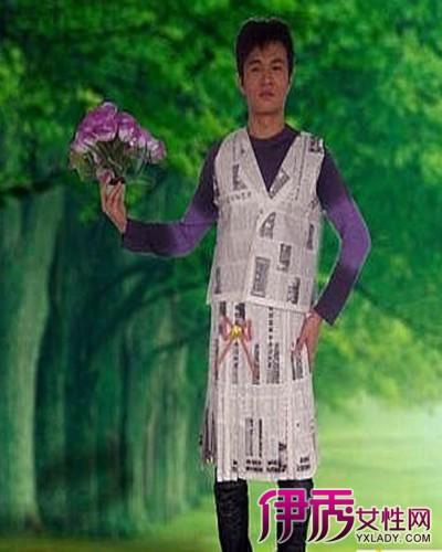 服装潮流前线_【报纸制作衣服步骤】【图】报纸制作衣服步骤介绍 废物利用大 ...