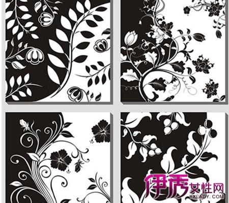 黑白手绘装饰画展示 充分发挥简简单单的艺术美感图片