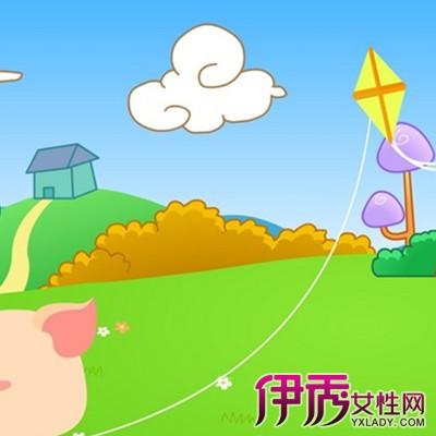放风筝卡通照片 3种风筝任你选图片