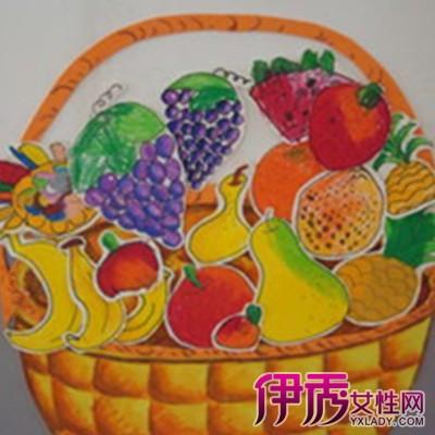 幼儿绘画秋天的水果图片欣赏 秋味浓浓充满童趣