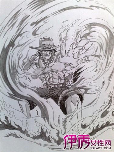 海贼王手绘铅笔画 带你体验海贼王的另一种美