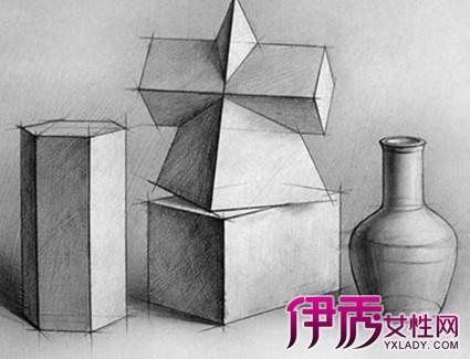 【图】如何画素描几何形体 四大步骤详细为你讲解-素描几何形体图片