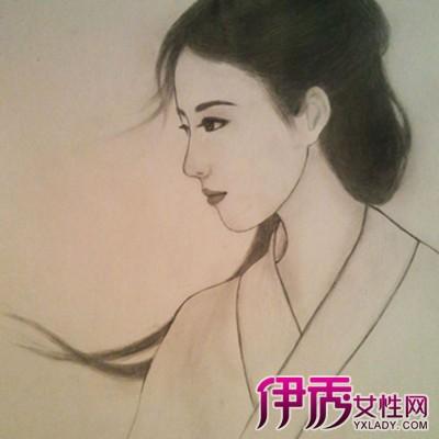 铅笔手绘古装人物图片
