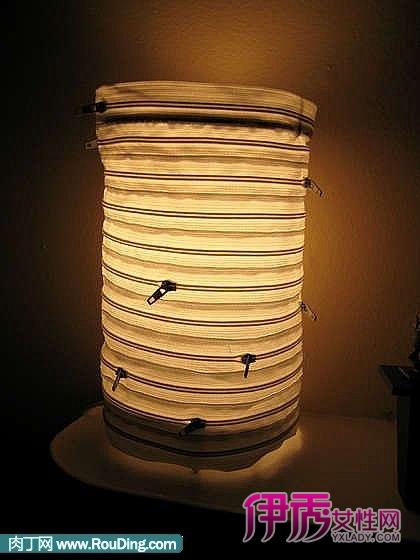 用拉链制作个性创意的灯罩,台灯手工制作方法(第1页)-拉链