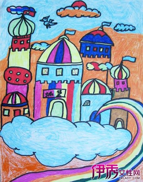 漂亮的城堡绘画图片