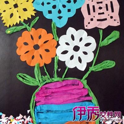 儿童手工皱纹纸贴画