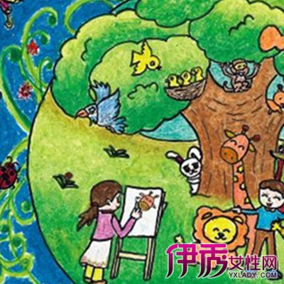 关于环保的儿童画