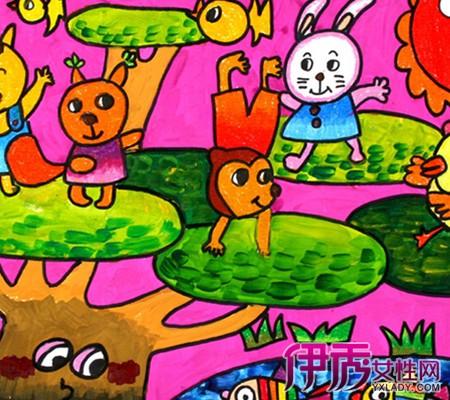 幼儿园油画棒范画