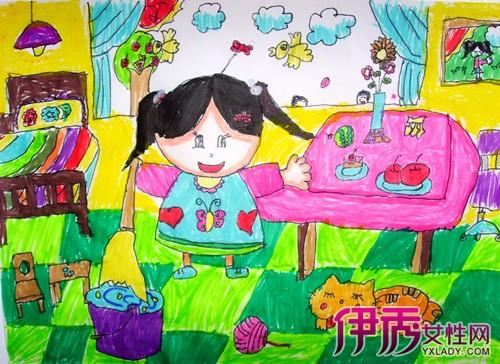 我爱劳动儿童画