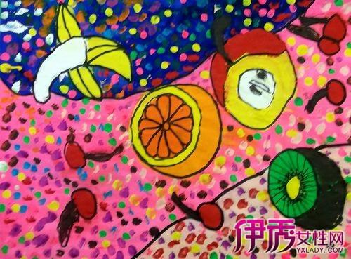 儿童画画水果