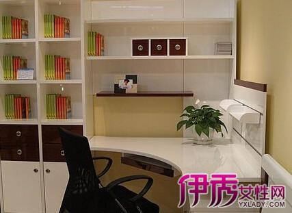 【图】书桌书架一体的设计图 教你如何选购合适的一体柜-书桌书架一体